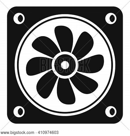 Ventilation Fan Icon. Simple Illustration Of Ventilation Fan Vector Icon For Web Design Isolated On