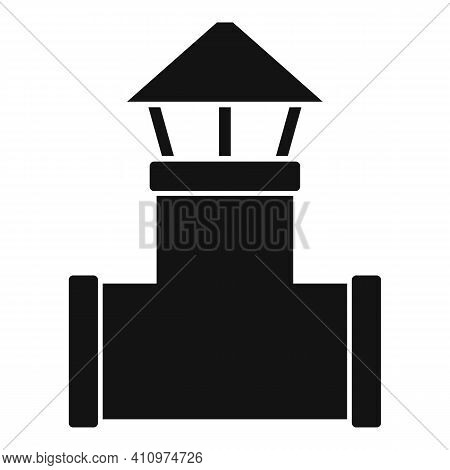 Ventilation Pipe Icon. Simple Illustration Of Ventilation Pipe Vector Icon For Web Design Isolated O
