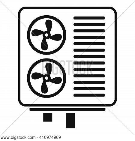 Industrial Ventilation Icon. Simple Illustration Of Industrial Ventilation Vector Icon For Web Desig