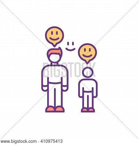 Parent-child Bond Rgb Color Icon. Attachment Development Between Children And Parents. Warm Intimate
