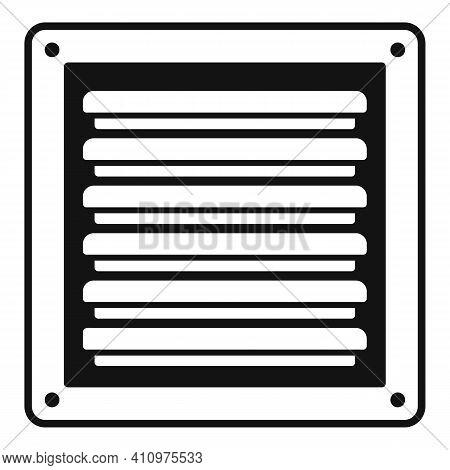 Metal Ventilation Icon. Simple Illustration Of Metal Ventilation Vector Icon For Web Design Isolated
