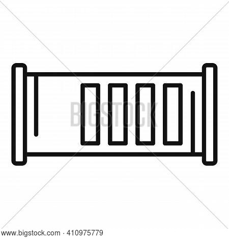 Ventilation Icon. Outline Ventilation Vector Icon For Web Design Isolated On White Background