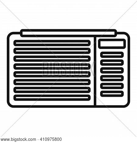 Air Ventilation Icon. Outline Air Ventilation Vector Icon For Web Design Isolated On White Backgroun