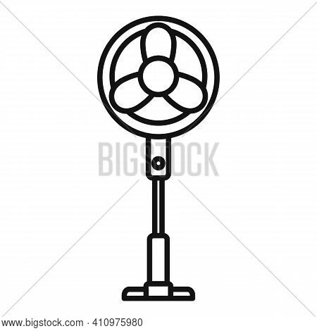 Room Fan Stand Icon. Outline Room Fan Stand Vector Icon For Web Design Isolated On White Background