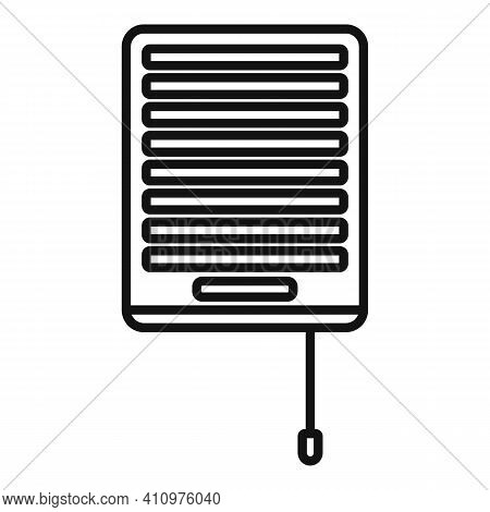 Wall Ventilation Icon. Outline Wall Ventilation Vector Icon For Web Design Isolated On White Backgro