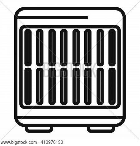 Floor Ventilation Icon. Outline Floor Ventilation Vector Icon For Web Design Isolated On White Backg