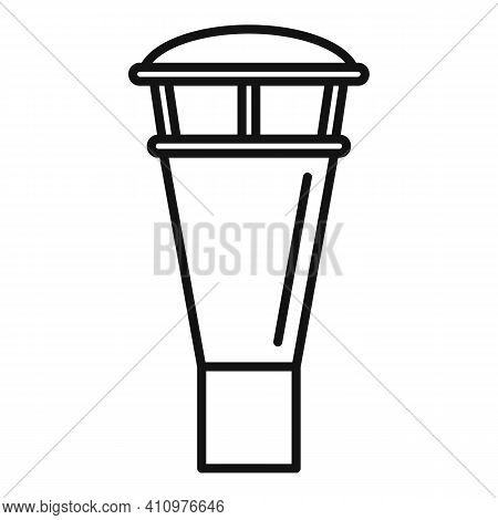 Ventilation Chimney Icon. Outline Ventilation Chimney Vector Icon For Web Design Isolated On White B