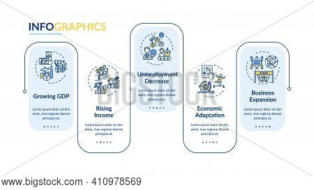 Growing Gross Domestic Product Vector Infographic Template. Labor And Goods Presentation Design Elem