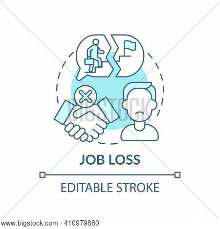 Job Loss Concept Icon. Rise In Unemployment Rate Idea Thin Line Illustration. Influence Covid-19 Res