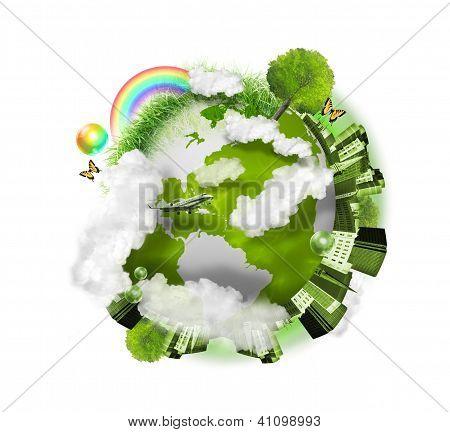 Green Nature Globe Earth