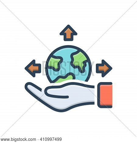 Color Illustration Icon For Possible Presumable Potential Triable Thinkable Feasible Available Imagi