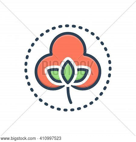 Color Illustration Icon For Smooth Sleek Sebaceous Glib Oleaginous Soft Cotton Velvety Fabric Natura