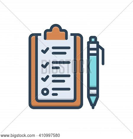 Color Illustration Icon For Curriculum Program Schedule Syllabus Course-of-study Timetable Studies I
