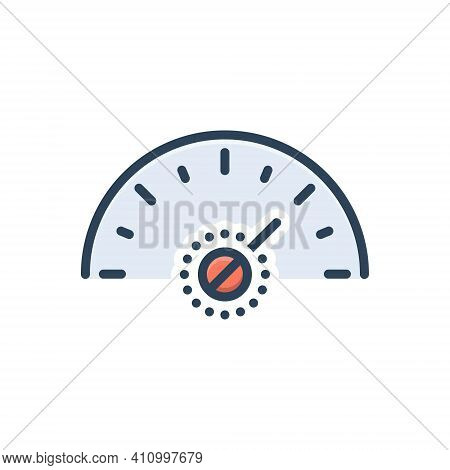 Color Illustration Icon For More Much Speedometer Fast Arrow Technology Performance Indicator Accele