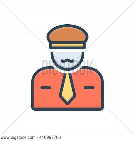 Color Illustration Icon For Sir Mr Guy Gentleman Sir He People Man Police The-law Force Guard Secure