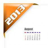August of 2013 calendar poster
