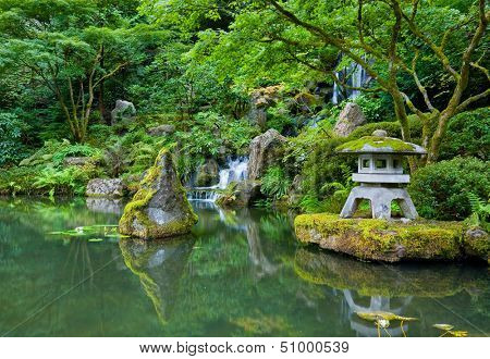 Waterfall in Portland Japanese Garden