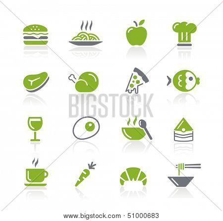 Food Icons - 1 of 2 // Natura Series