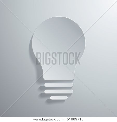 Vector illustration of light bulb icon