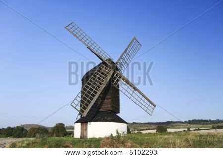 the oldest windmill in england in pitstone hertfordshire poster