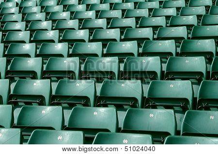 Green Stadium Seating