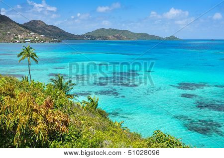Incredible Caribbean Sea View Of Providencia Island Near San Andres In Colombia.