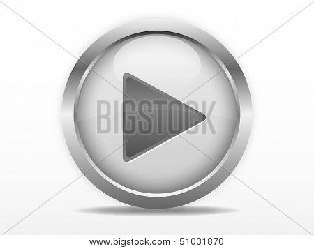 Grey play button