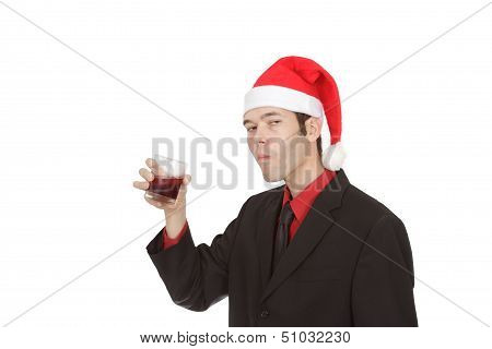 Drinking Office Worker At Holiday Party