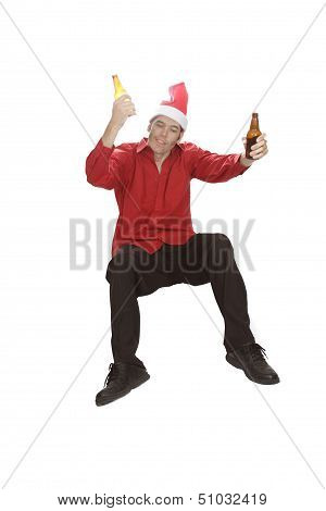 Falling Drunk Christmas Office Professional