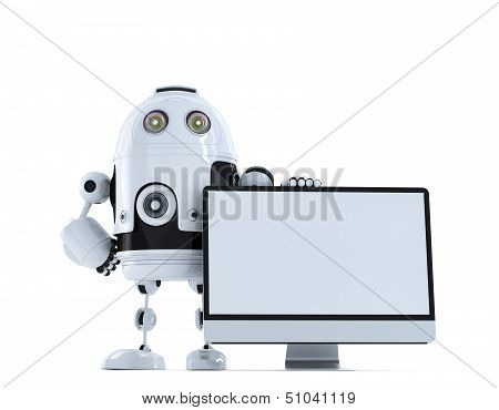 Robot With Computer Monitor
