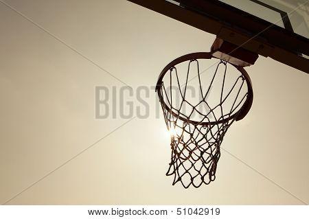 Silhouette Of Basketball Basket