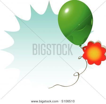 Sale Sign Green Balloon