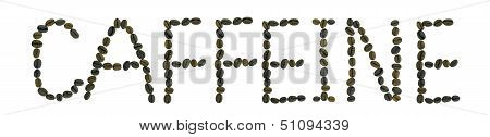 word caffeine made from coffee beans
