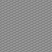 Metallic diamond flooring front view abstract industrial seamless background poster