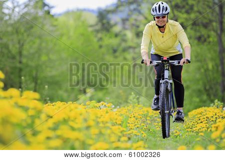 Bike riding - woman on bike