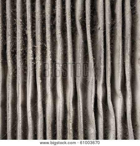 Close Up Outside Of Dirty Air Filter