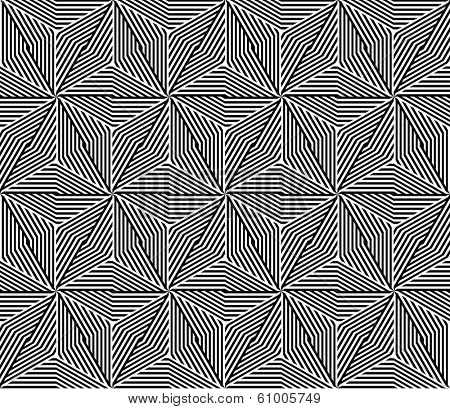 Seamless Triangle Elements Pattern. Rasterized Version