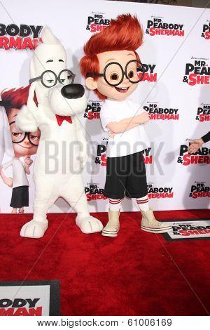 LOS ANGELES - MAR 5:  Mr. Peabody, Sherman at the
