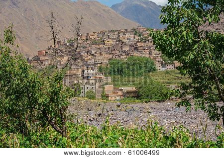 The village of Imlil in the high Atlas Mountains of Morocco near Toubkal poster