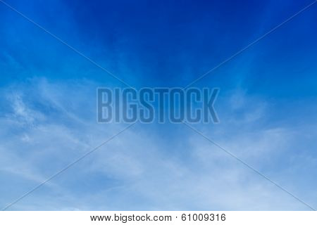 soft cloud with blue sky