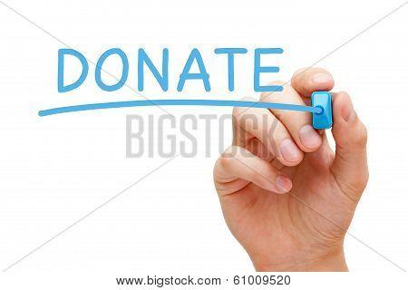 Donate Blue Marker