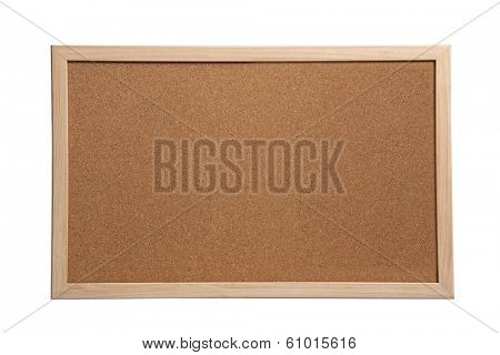 Empty Cork Board isolated on white background