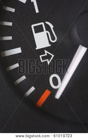 Fuel tank gauge reading at empty