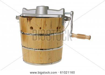 Antique bucket with crank