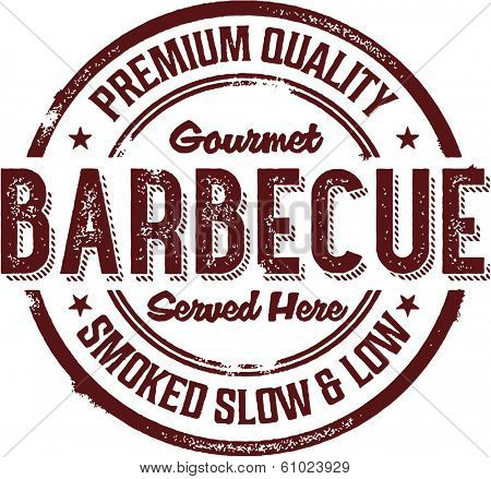 Premium BBQ Barbecue Menu Stamp