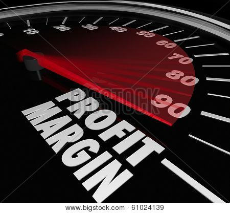 Profit Margin Speedometer Measurement Money Net Earnings