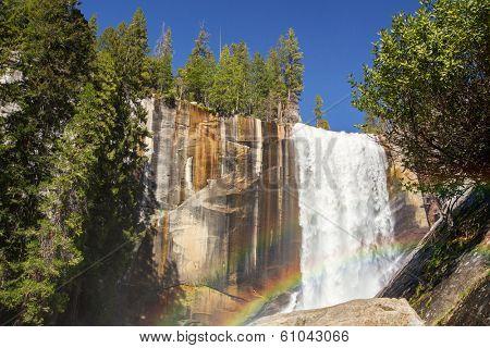 Vernal falls and rainbow. Yosemite national Park, California, USA