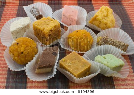 Assortment Of Indian Sweets