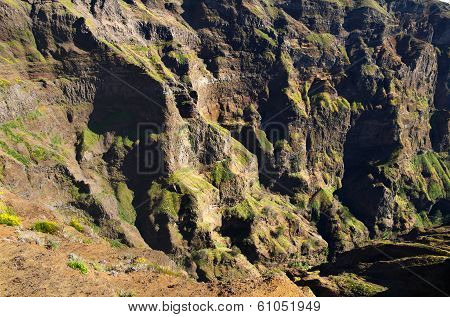 Canyon Wall, Pico Do Areeiro, Madeira