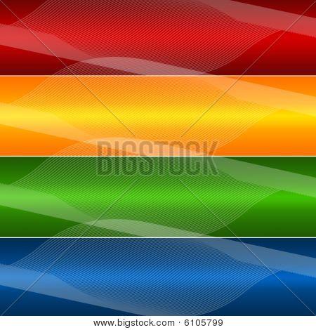 Bandera de cuatro líneas